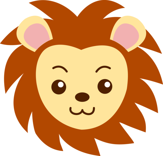 Cute Lion Head Clipart Free