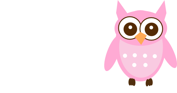 Cute Pink Owl At Vector Online