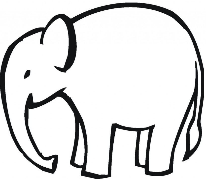 Elephant Outline Clipartion Com