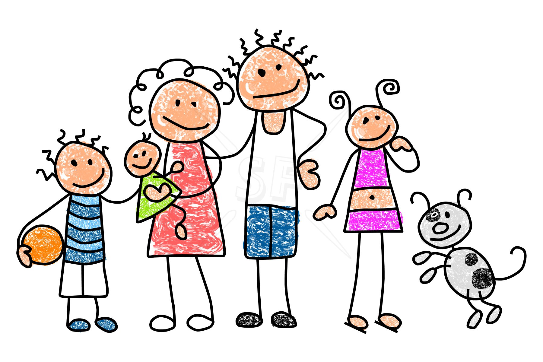 Best Family Clipart 5 People 28433 Clipartion Com