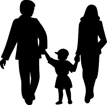 Family black. Best clipart and white