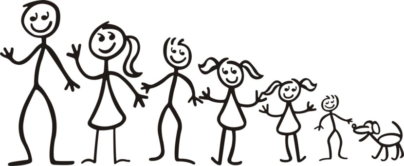 Family Stick Figures