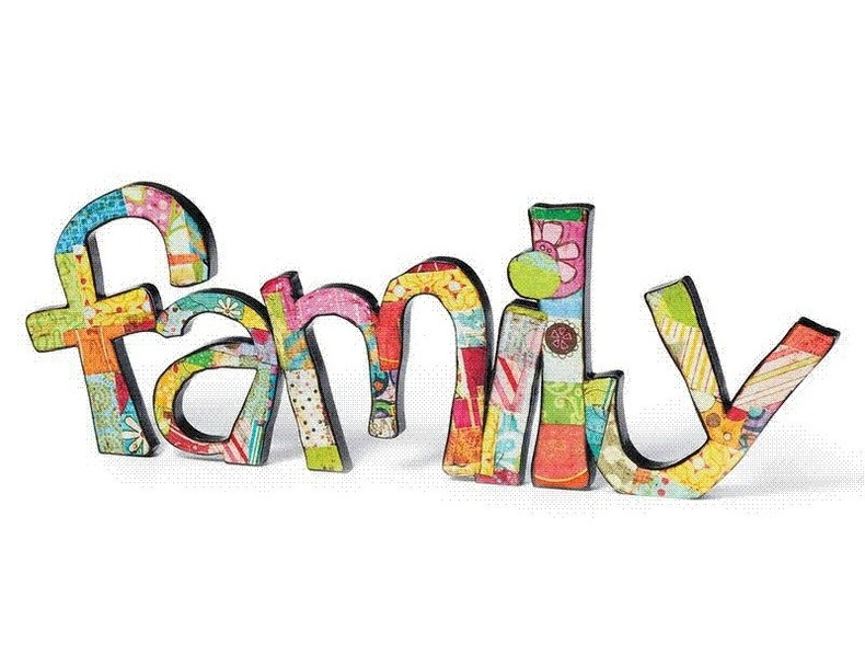 Family word clipart for Clipart words
