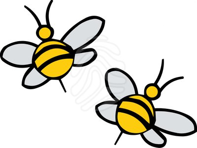 Flying Bee Clipart
