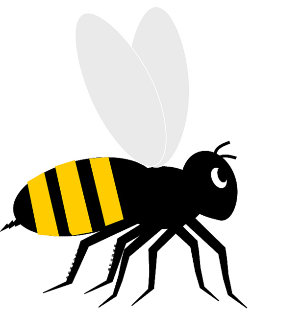 Flying Bumble Bee Clipart Image