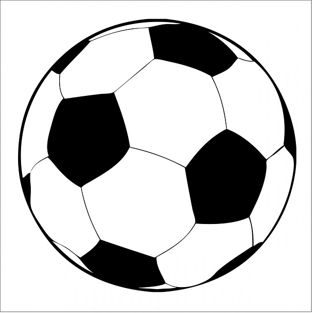 Football Black And White Free Clipart