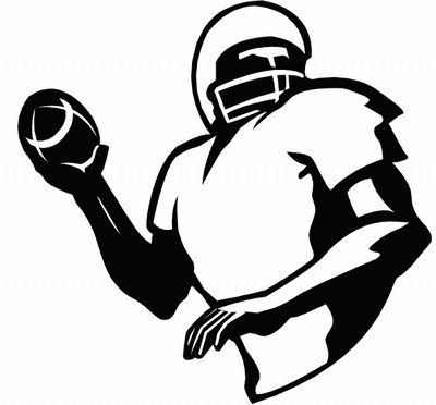 Football Player Girl Playing Football Outline At Vector