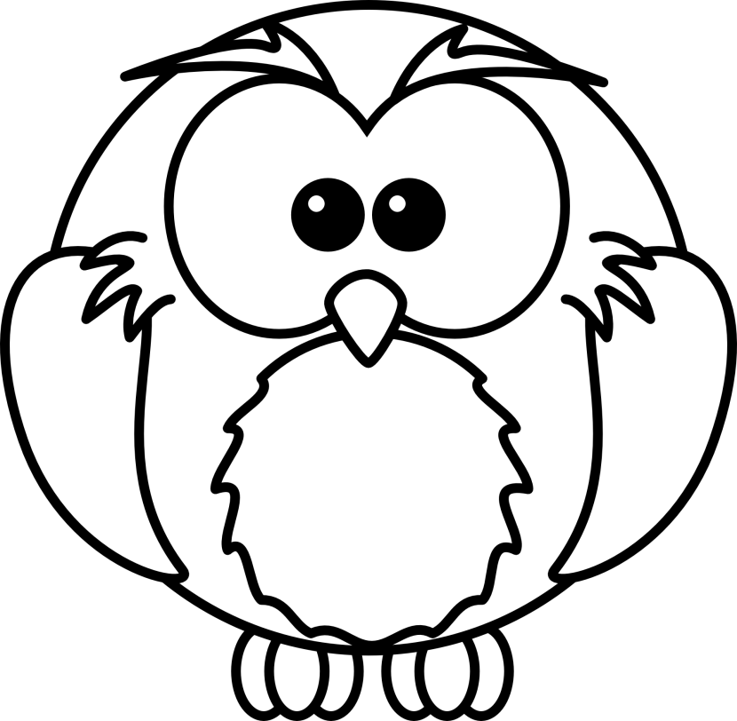 Free Owl Clipart Black And White Dromgjc Top