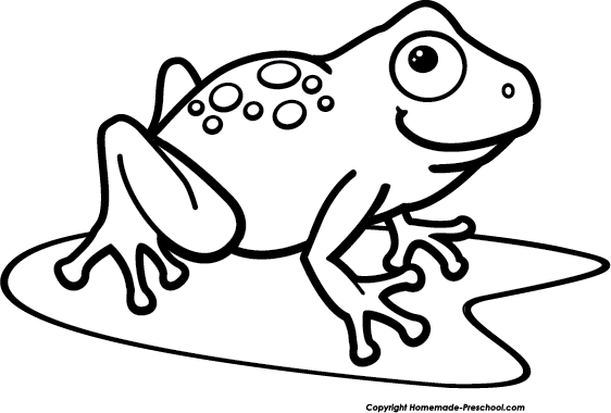 Frog Clipart Image Frog On A Lily Pad In A Pond Image 3
