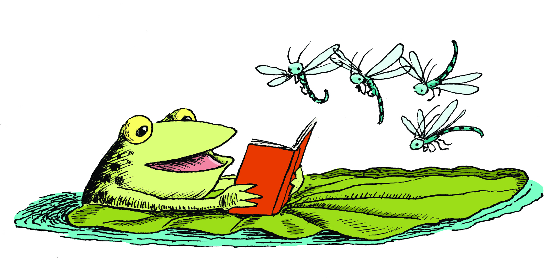 Best Cute Frog on Lily Pad Clipart 28929  Clipartioncom