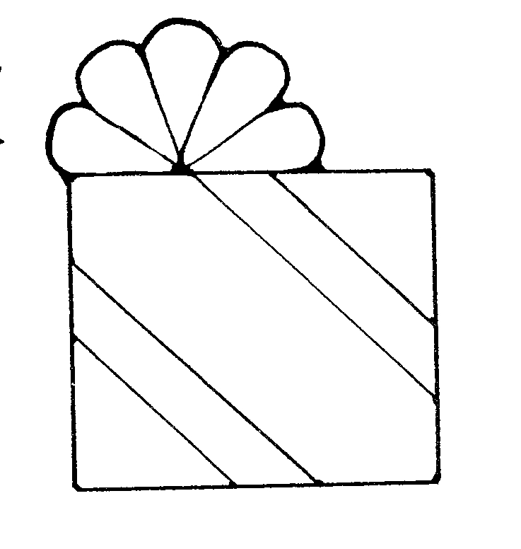 Gift Clipart Black And White Free