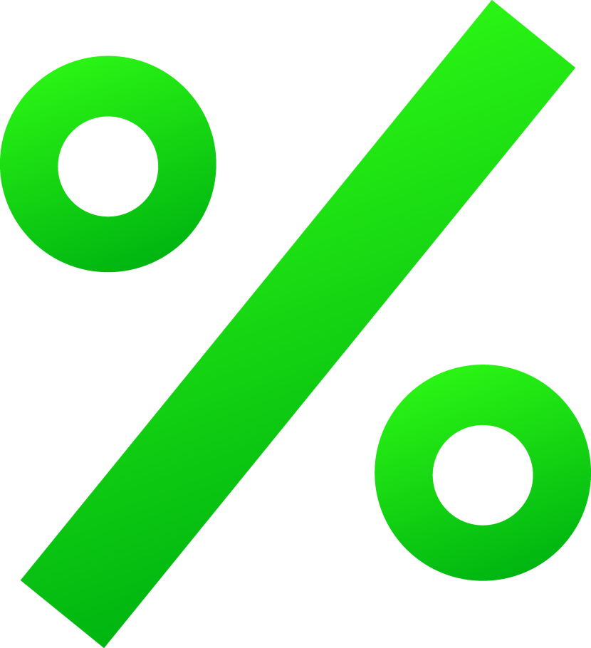 Green Percentage Sign Free