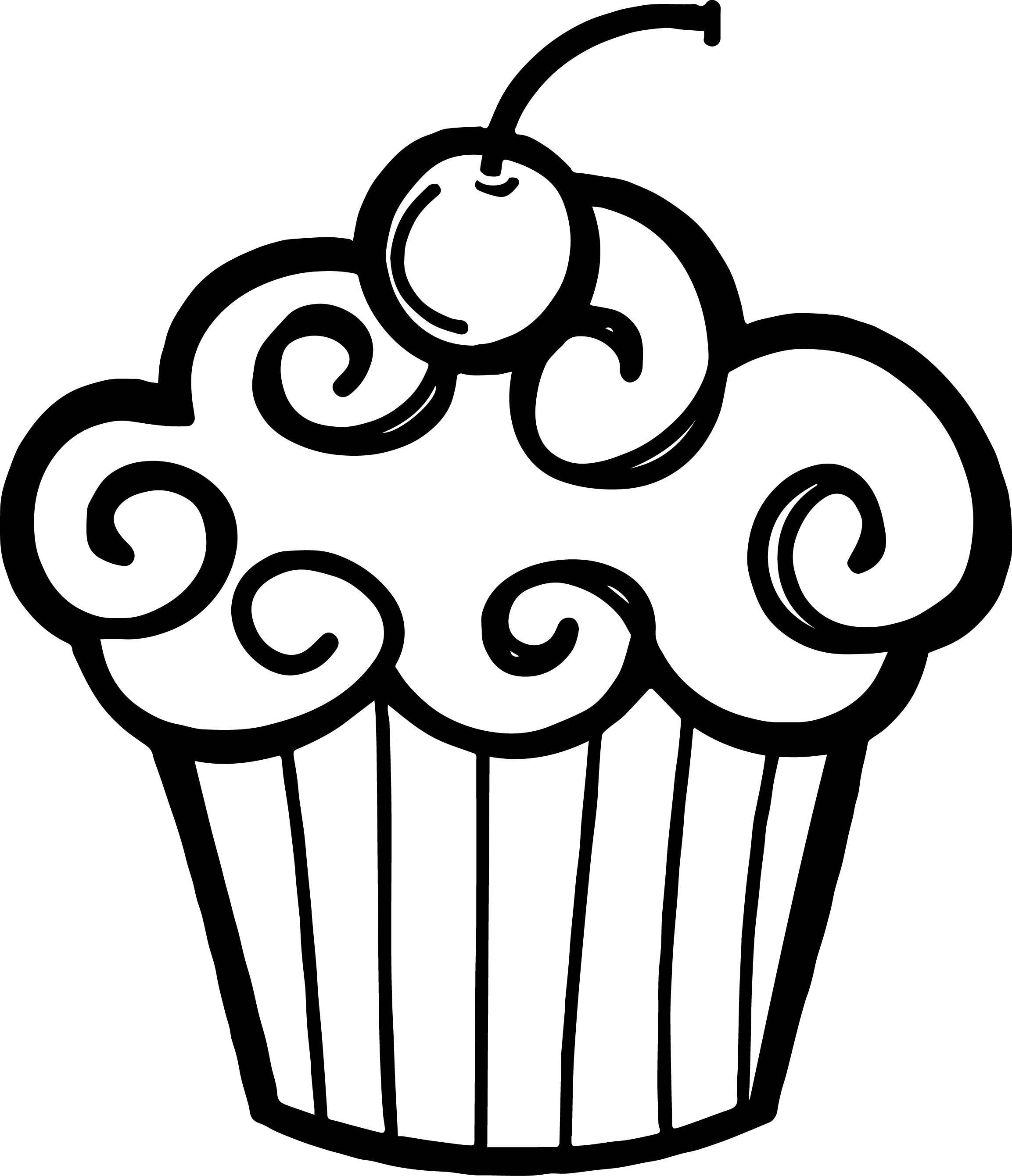 Black and white birthday clipart