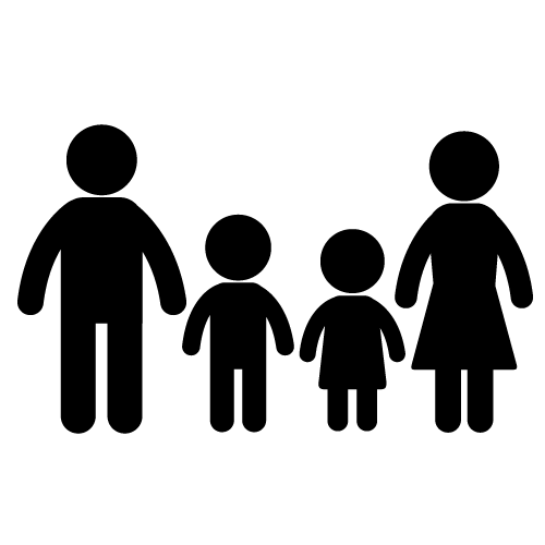 Happy Family Black And White Hd Family Time Stock Vector