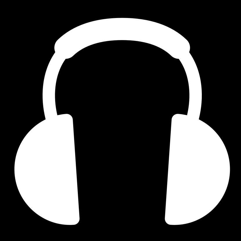 Headphone Black And White Computer Headphone Clipart