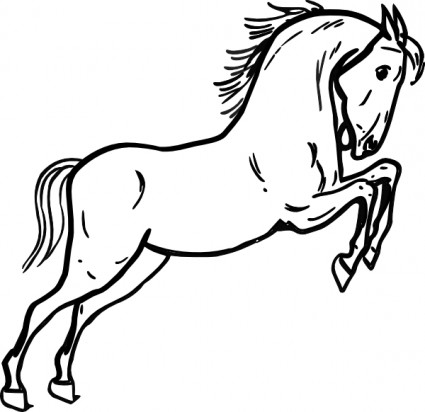 Horse Outline Free Vector Free Vector