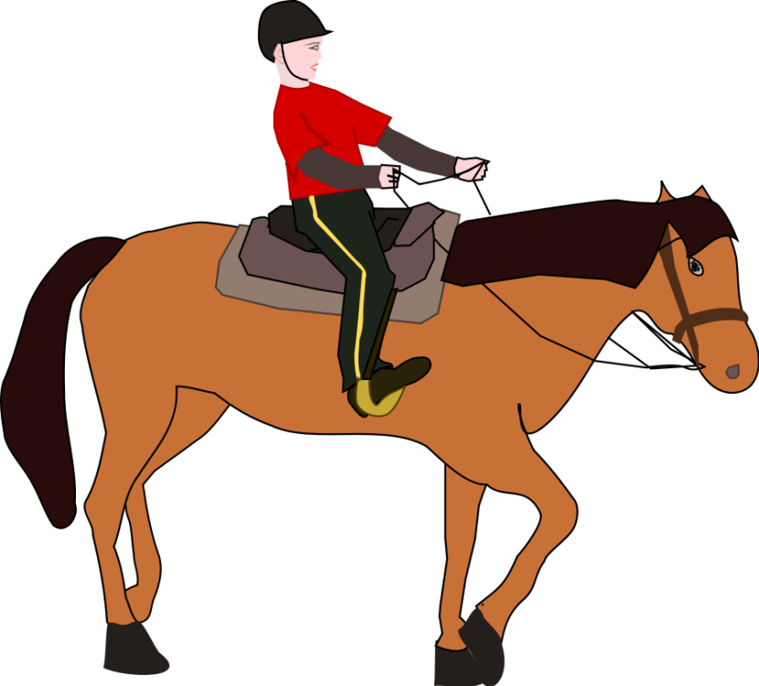 Horse Riding Free Clipart