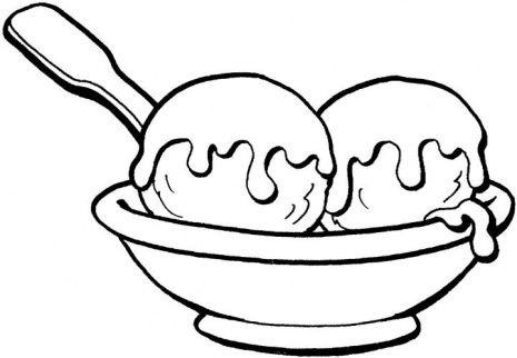 Ice Cream Bowl Clipart