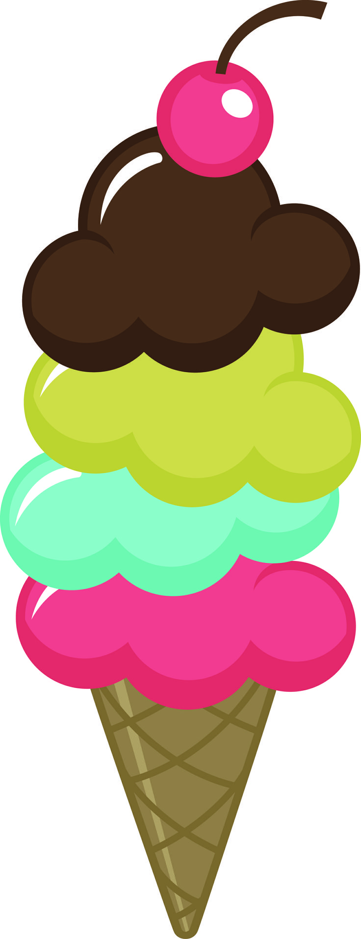 Ice Cream Cone Summer Clipart Ice