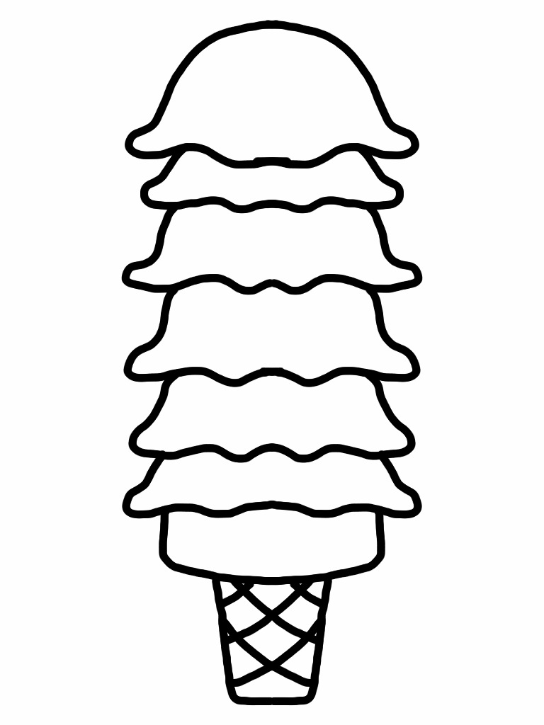 Ice Cream Scoop Outline