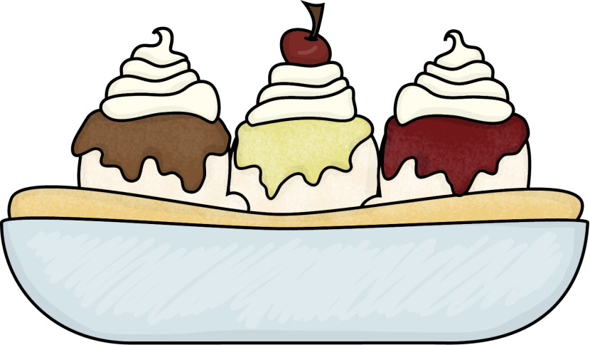 free black and white ice cream sundae clipart - photo #39