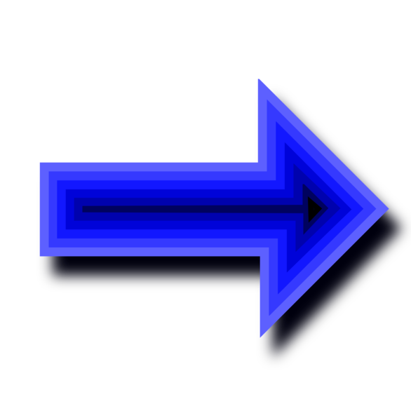 Image Illustration Of A Blue Right Arrow