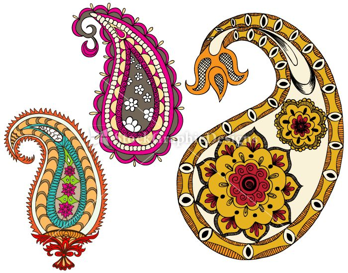 Indian Paisley Designs