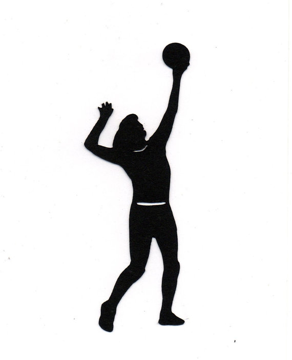 Items Similar To Girl Playing Volleyball Silhouette Die Cut For