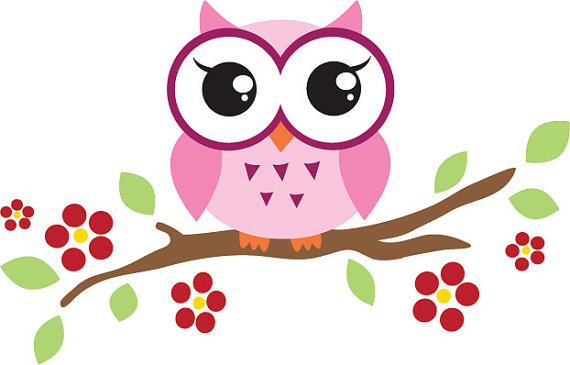 Owl on Branch Clipart - Clipartion.com