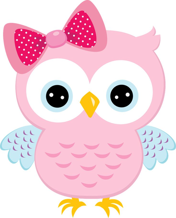 Light Pink Owl With Bow Owls Pink Owl