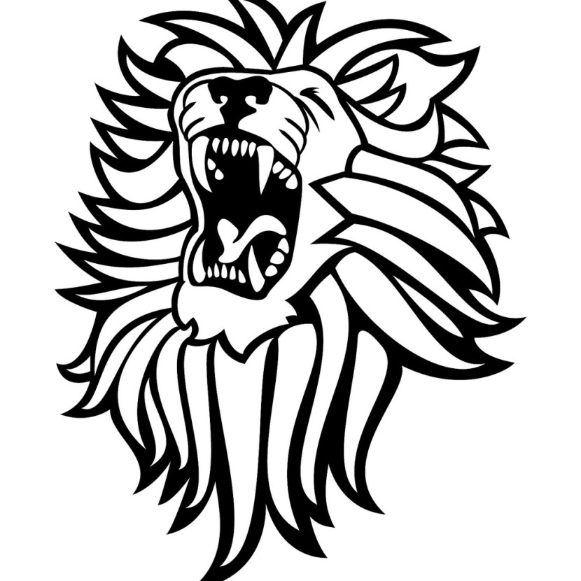 Black and white lion clip art - photo#10