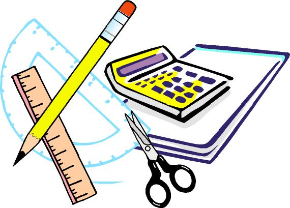 Math Supplies Clipart Free