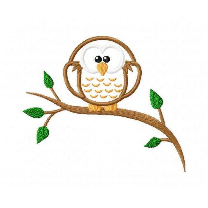 Owl Cartoon On Branch Images