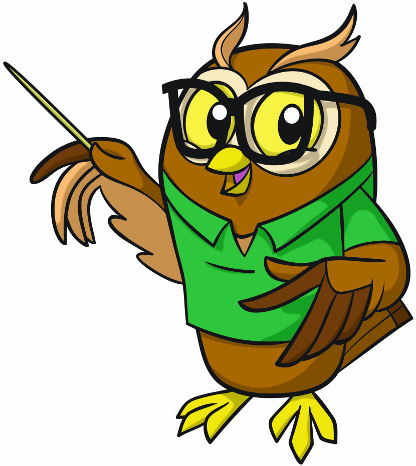 Owl Cartoon Teaching