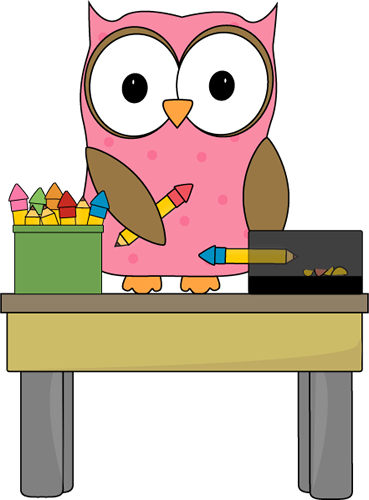 Owl Pencil Monitor Owl Pencil Monitor Vector Image
