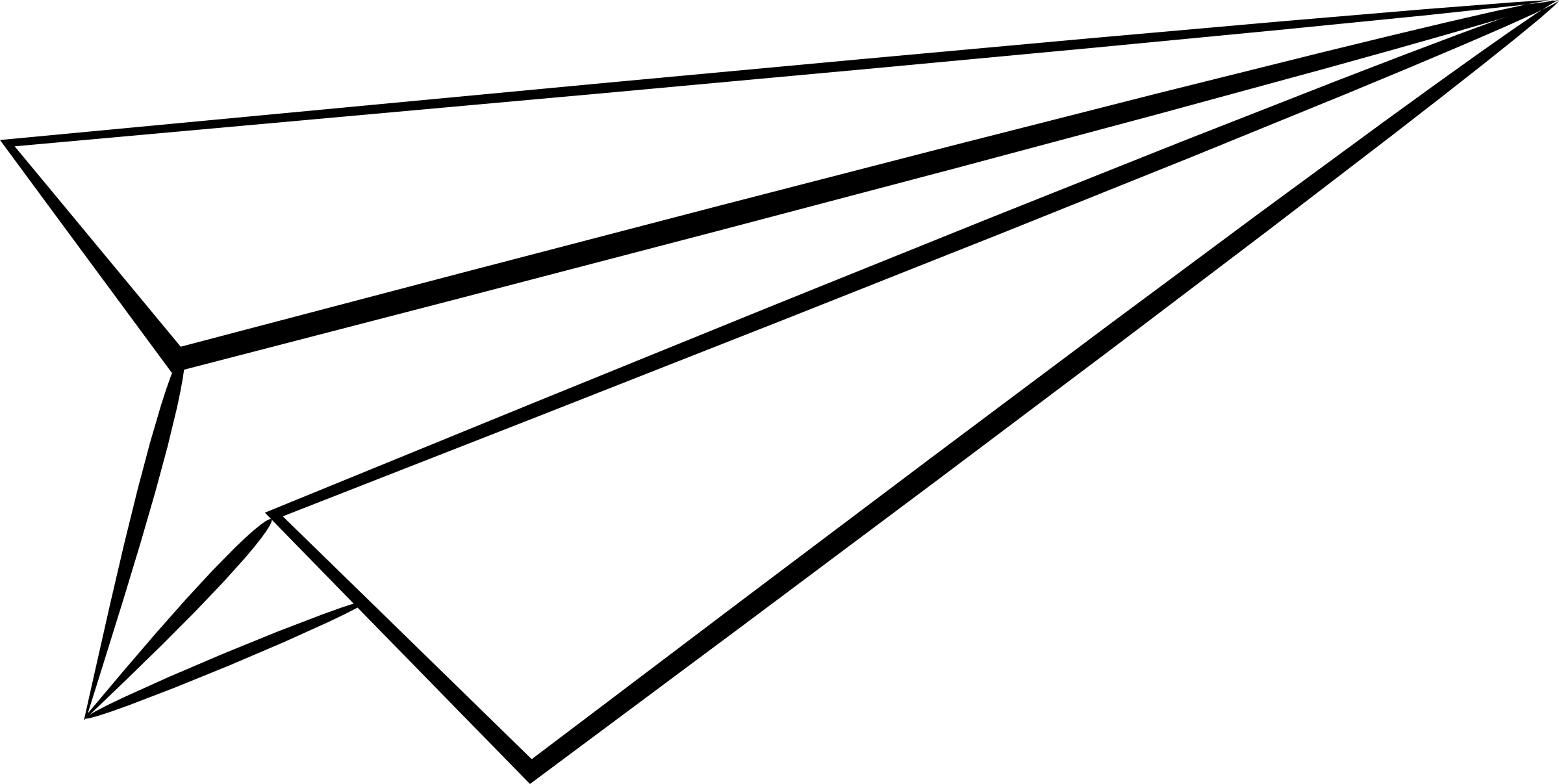 Paper Airplane Drawing Free