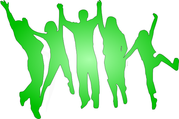 People Cheering Clipart