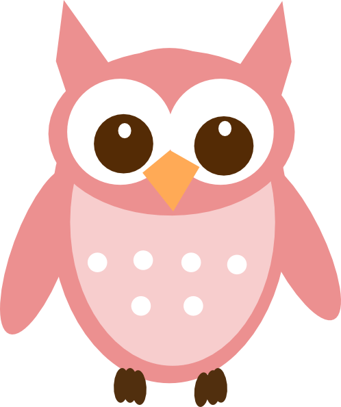 Pink Baby Owl Clipart Free