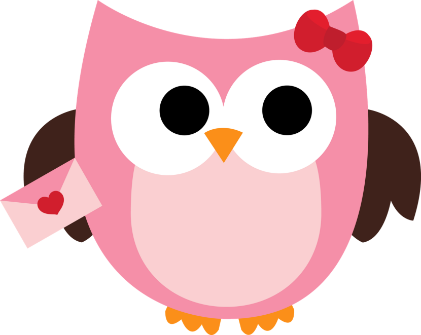 Pink Owl At Vector