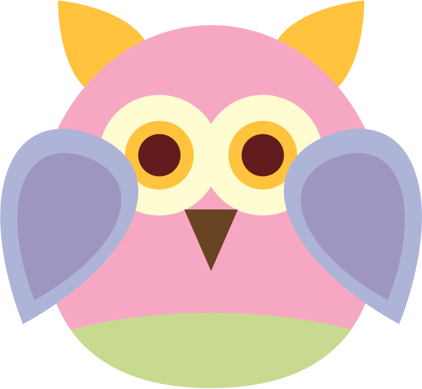 Pink Owl Clipart