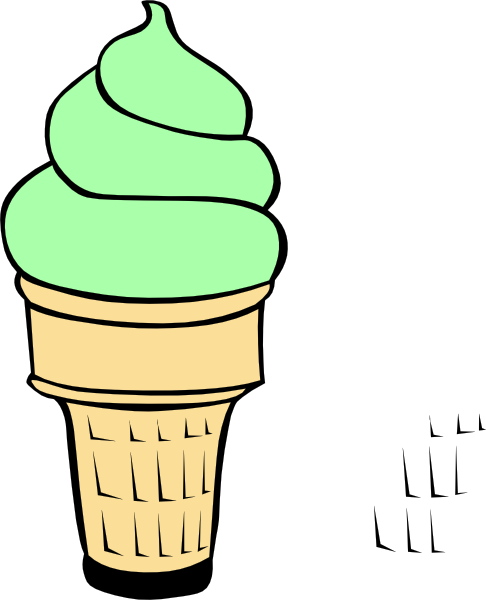 Pistachio Ice Cream Cone At Vector Image