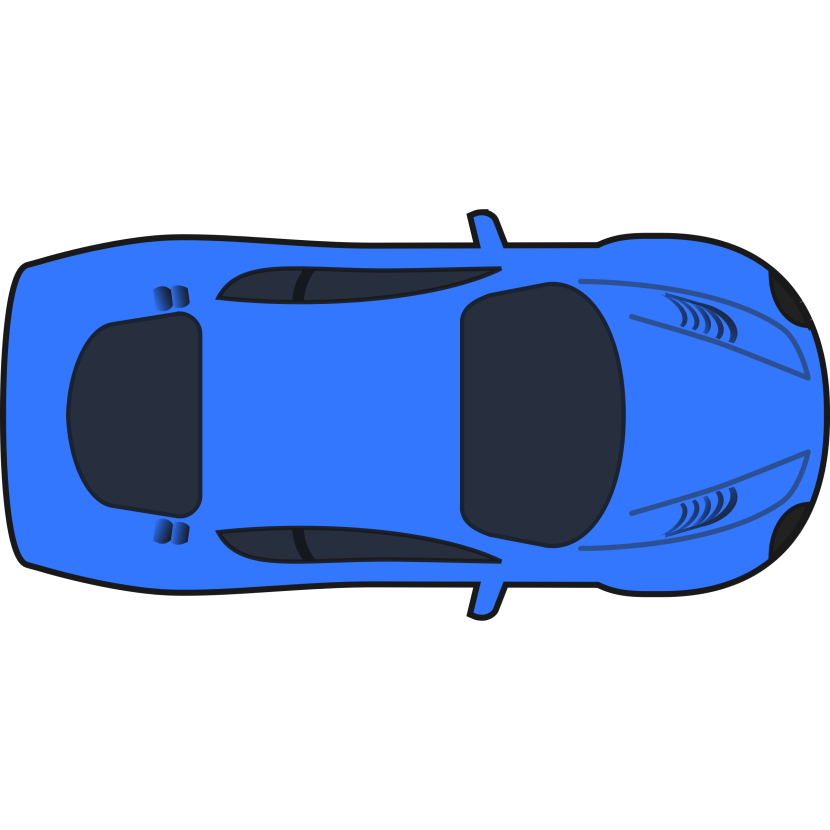 Racing Car Clipart Orange Racing Car Top View