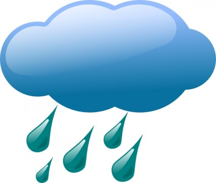 Rain Cloud Free Vector In Open Office Drawing