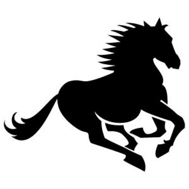 Running Horse Silhouette Vector - Pictures of Horses