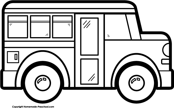 School Bus Black And White Free Clipart