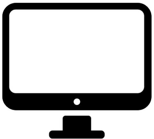 Small Computer Monitor Vector Vectors