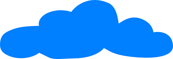 Solid Blue Cloud At Vector Online
