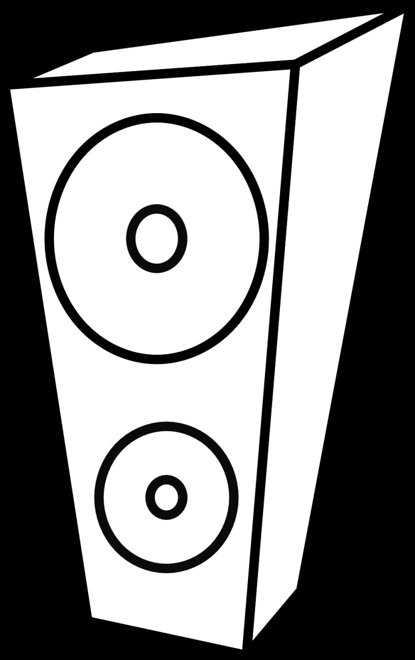 Speaker Black And White Clipart