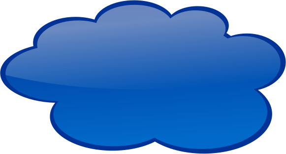 Speech Cloud Dark Blue Blanks Callouts Color Speech Bubbles