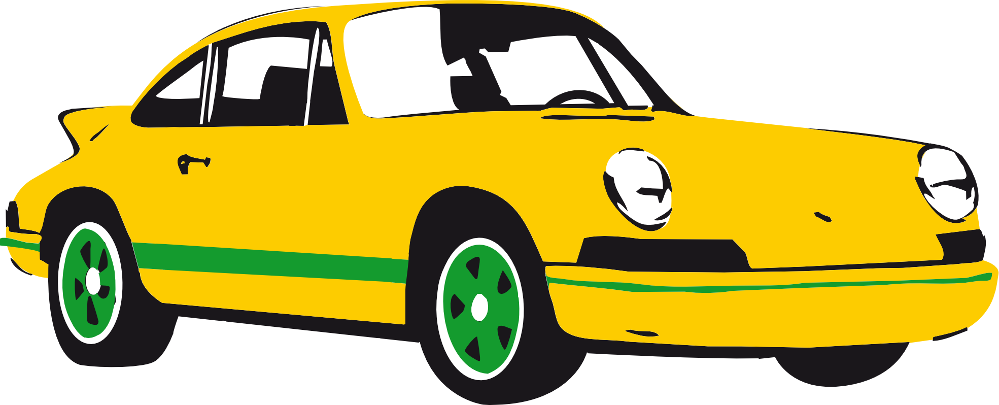 Sports Car Clipart Black And White Free Clipart